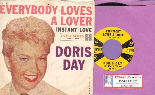 Day, Doris - Everybody Loves A Lover/Instant Love (with RARE picture sleeve and juke box label) - NM9/EX8 - 45 rpm Records