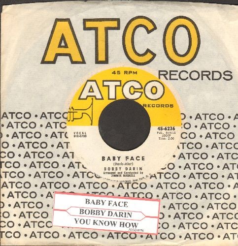 Darin, Bobby - Baby Face/You Know How (with juke box label and Atco company sleeve) - NM9/ - 45 rpm Records