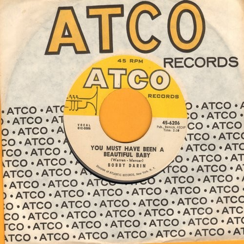 Darin, Bobby - You Must Have Been A Beautiful Baby/Sorrow Tomorrow (with Atco company sleeve) - EX8/ - 45 rpm Records