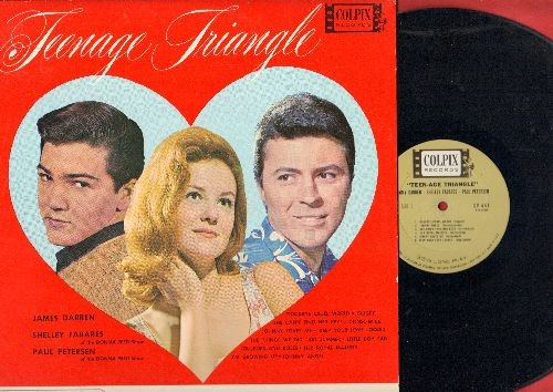 Fabares, Shelley, James Darren, Paul Petersen - Teenage Triangle: Goodbye Cruel World, Johnny Angel, Little Boy Sad, Gidget, Johnny Loves Me, Her Royal Majesty, Conscience (Vinyl MONO LP record, NICE condition!) - EX8/EX8 - LP Records