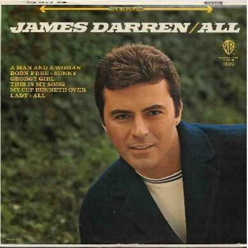 Darren, James - All: Georgy Girl, My Cup Runneth Over, Born Free, Since I Don't Have You, Sunny, This Is My Song (vinyl MONO LP record, DJ advance pressing) - NM9/VG7 - LP Records