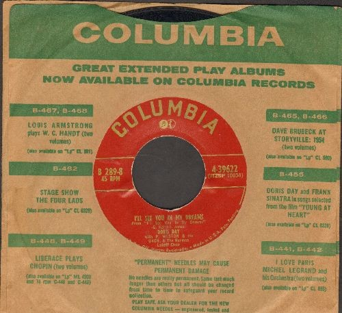 Day, Doris - I'll See You In My Dreams/Ain't We Got Fun (duet with Danny Thomas) (with Columbia company sleeve) - VG7/ - 45 rpm Records
