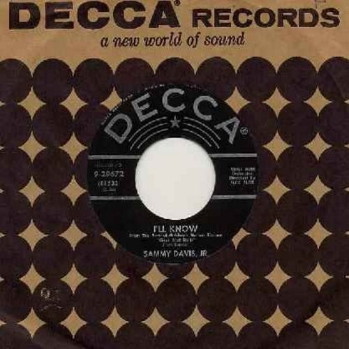 Davis, Sammy Jr. - I'll Know/Adelaide (both songs from film -Gyus And Dolls-) (with vintage Decca company sleeve) - VG7/ - 45 rpm Records