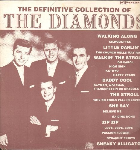 Diamonds - The Definitive Collection: The Scroll, Little Darlin', Silhouettes, Why Do Fools Fall In Love? (vinyl LP record, re-issue of vintage recordings) - NM9/EX8 - LP Records
