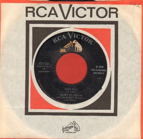 De Vorzon, Barry - Baby Doll/Barbara Jean (with RCA company sleeve) - EX8/ - 45 rpm Records