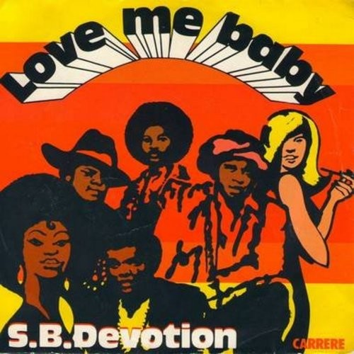 S.B.Devotion - Love Me Baby (double-A-sided DJ copy of Euro-Dance Club Hit, French Pressing with picture sleeve) - EX8/EX8 - 45 rpm Records