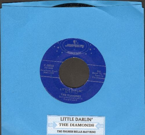 Diamonds - The Church Bells May Ring/Little Darlin' (double-hit re-issue) - NM9/ - 45 rpm Records