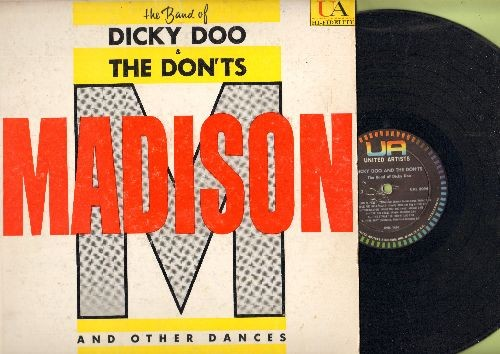 Doo, Dicky & The Don'ts - Madison And Other Dances: Cha Cha Rooney, Ballin' The Jack, The Stroll, The Bop, Mashed Potatoes (vinyl MONO LP record, 1960 first pressing) - VG7/VG7 - LP Records