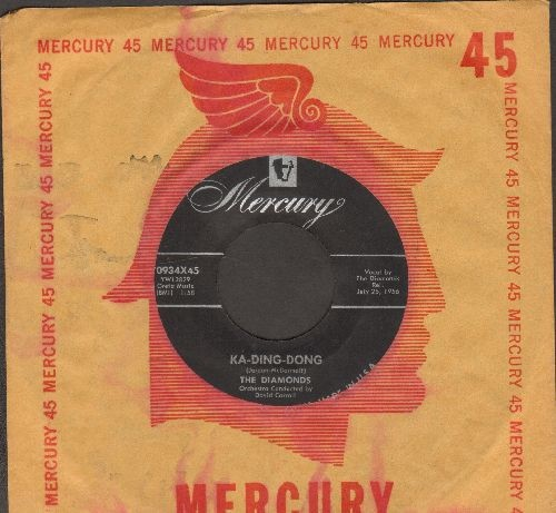 Diamonds - Ka-Ding-Dong/Soft Summer Breeze (with vintage Mercury company sleeve) - EX8/ - 45 rpm Records