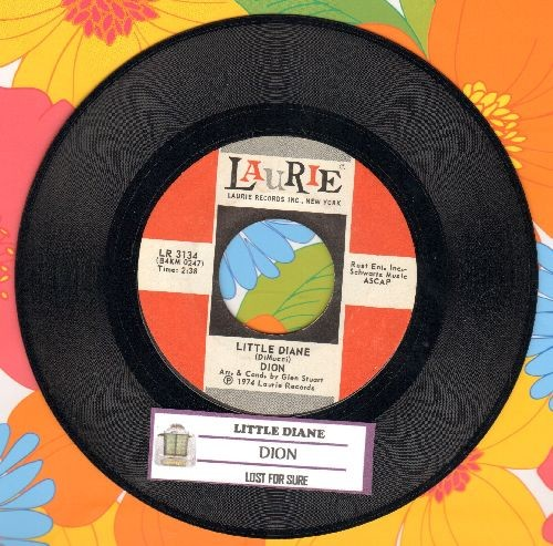 Dion - Little Diane/Lost For Sure (with juke box label) - NM9/ - 45 rpm Records