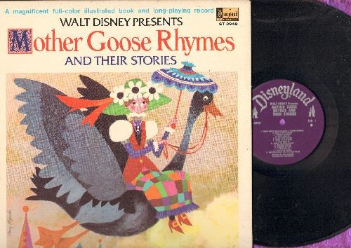 Disney - Mother Goose Rhymes and their Stories (vinyl STEREO LP record, gate-fold cover with full color picture pages) - NM9/NM9 - LP Records