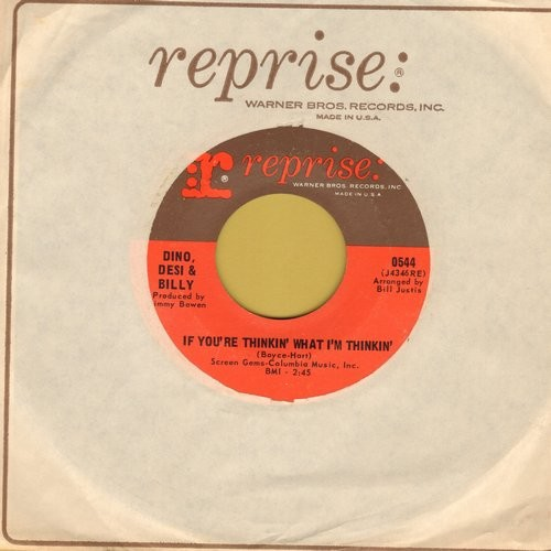 Dino, Desi & Billy - If You're Thinkin What I'm Thinkin'/Pretty Flamingo (MINT condition with Reprise company sleeve) - NM9/ - 45 rpm Records