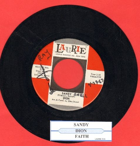 Dion - Sandy (Better Luck The Next Time)/Faith (with juke box label)(wol) - NM9/ - 45 rpm Records