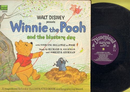 Disney - Winnie The Pooh And The Blustery Day (vinyl LP record with picture pages/gate-fold cover) - EX8/VG6 - LP Records