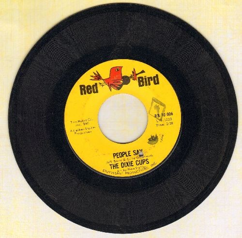 Dixie Cups - People Say/Girls Can Tell (bb) - EX8/ - 45 rpm Records
