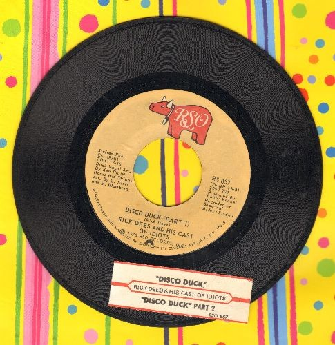 Dees, Rick - Disco Duck  (Parts 1+2) (with juke box label) - EX8/ - 45 rpm Records