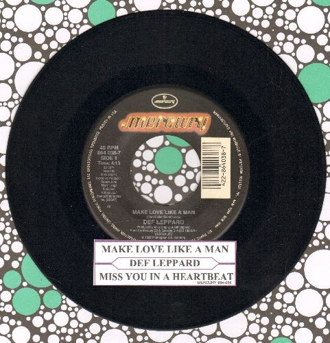 Def Leppard - Make Love Like A Man/Miss You In A Heartbeat (with juke box label) - NM9/ - 45 rpm Records