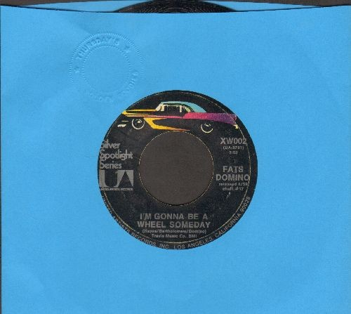Domino, Fats - I'm Gonna Be A Wheel Someday/Blue Monday (double-hit re-issue) - EX8/ - 45 rpm Records