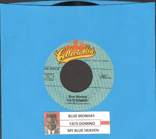 Domino, Fats - Blue Monday/My Blue Heaven (double-hit re-issue of vintage recordings with juke box label) - EX8/ - 45 rpm Records