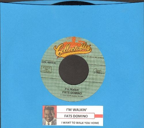 Domino, Fats - I Want To Walk You Home/I'm Walkin' (double-hit re-issue of vintage recordings with juke box label) - EX8/ - 45 rpm Records