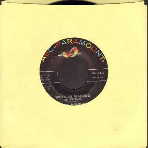 Domino, Fats - When I'm Walking (Let Me Walk)/I've Got A Right To Cry (with ABC-Paramount company sleeve) - EX8/ - 45 rpm Records