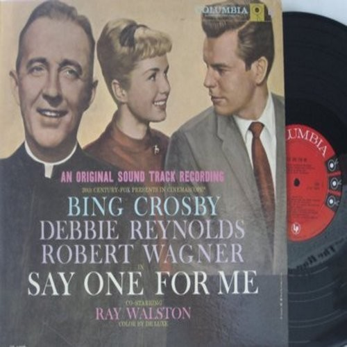 Crosby, Bing, Debbie Reynolds, others - Say One For Me - Original Motion Picture Sound Track: You Can't Love 'Em All, The Night Rock And Roll Died, The Secret Of Christmas, Chico's Choo-Choo (Vinyl MONO LP record) - M10/EX8 - LP Records