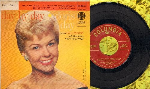 Day, Doris - Day By Day Vol 1: The Song Is You/Hello My Lover, Goodbye/But Not For Me/I Remember You (vinyl EP record with picture cover) - NM9/EX8 - 45 rpm Records