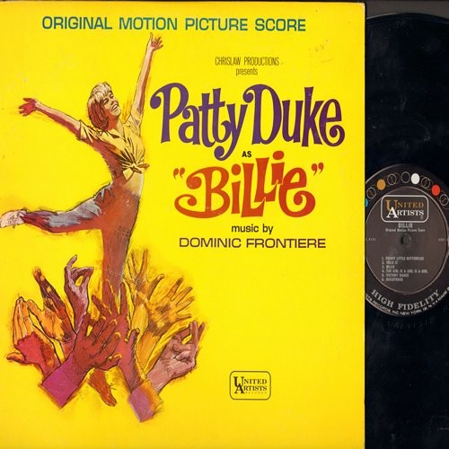 Duke, Patty - Billie - Original Motion Picture Sound Track,( Mono)includes Patty Duke's songs Funny Little Butterflies and Lonely Little In Between (Vinyl MONO LP record) - VG7/VG7 - LP Records