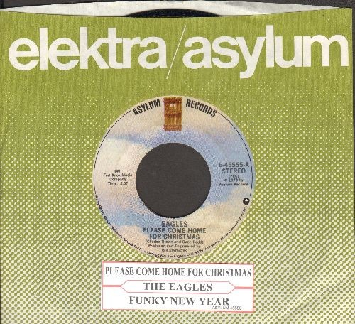 Eagles Please Come Home For Christmas.Eagles Please Come Home For Christmas Funky New Year With Company Sleeve And Juke Box Label Nm9 45 Rpm Records