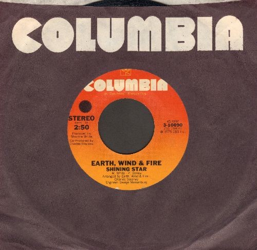 Earth, Wind & Fire - Shining Star (WEDDING DANCE FAVORITE!)/Yearnin', Learnin' (with Columbia company sleeve) - EX8/ - 45 rpm Records