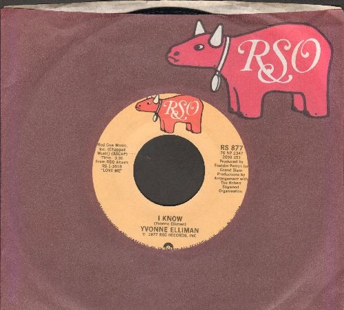 Elliman, Yvonne - I Know/I Can't Get You Outta My Mind (with RSO company sleeve) - M10/ - 45 rpm Records