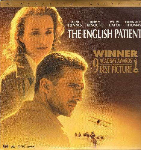 The Englsih Patient - The English Patient - LASSER DISC version of The Best Picture Oscar Winner, Wide Screen Edition on 2 LASERDISCs, gate-fold cover. - NM9/NM9 - LaserDiscs