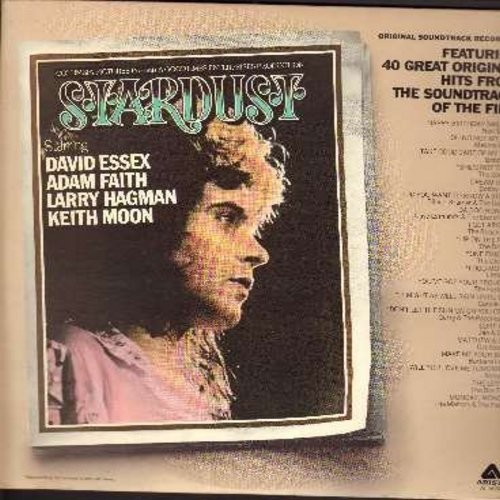 Stardust - Stardust - Original Motion Picture Sound Track feauring 40 Original Hits by The Animals, David Essex, Barry McGuire, Stray Cats, Hollies, others. 2 vinyl LP record set, gate-fold cover, counts as 2 LPs! - M10/NM9 - LP Records