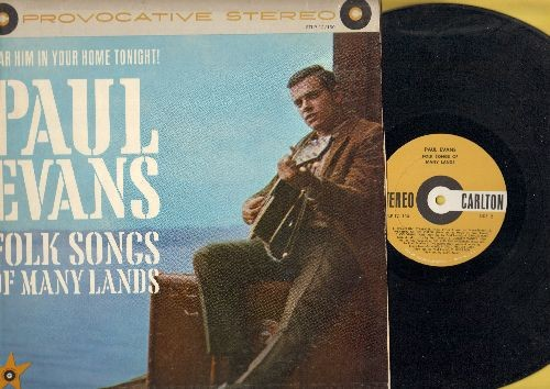 Evans, Paul - Folk Songs Of Many Lands: Mister Hangman, Wearing Of The Green, Samuel Hall, Crucified My Lord, Poor Boy (Vinyl LP record, RARE STEREO Pressing!) - EX8/VG6 - LP Records