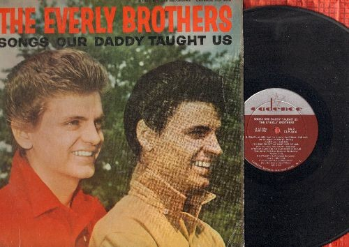 Everly Brothers - Songs Our Daddy Taught Us: Lighning Express, Barbara Allen, Put My Little Shoes Away, Long Time Gone (vinyl MONO LP record) - EX8/VG7 - LP Records