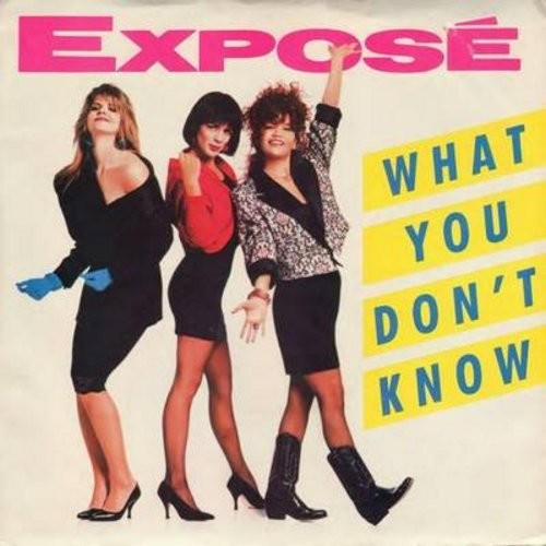Expose - What You Don't Know/Walk Along With Me (with picture sleeve) - M10/EX8 - 45 rpm Records
