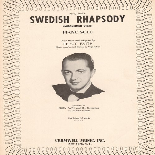 Faith, Percy & His Orchestra - Swedish Rhapsody (Petersburger Schlittenfahrt)/The Song From Moulin Rouge (10 inch 78rpm record) - VG7/ - 78 rpm