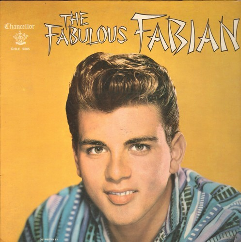 Fabian - Fabulous Fabian: You Excite Me, I'm Sincere, Gimme A Little Kiss, Remember Me, Ain't Misbehavin', You'll Never Tame Me (Vinyl MONO LP record, with scrap-book page! - minor water damage) - EX8/VG7 - LP Records