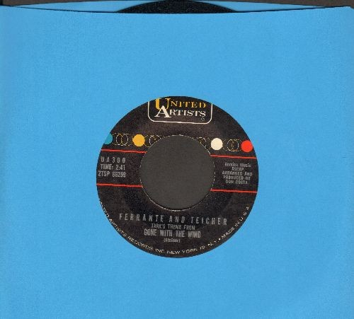 Ferrante & Teicher - Gone With The Wind (Tara's Theme)/Love Theme From One Eyed Jacks - NM9/ - 45 rpm Records