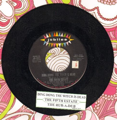 Fifth Estate - Ding Dong! The Witch Is Dead/The Rub-A-Dub (with juke box label) - NM9/ - 45 rpm Records