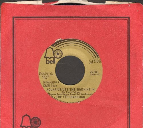 Fifth Dimension - Aquarius/Let The Sunshine In/The Worst That Could Happen (re-issue with Bell company sleeve) - NM9/ - 45 rpm Records