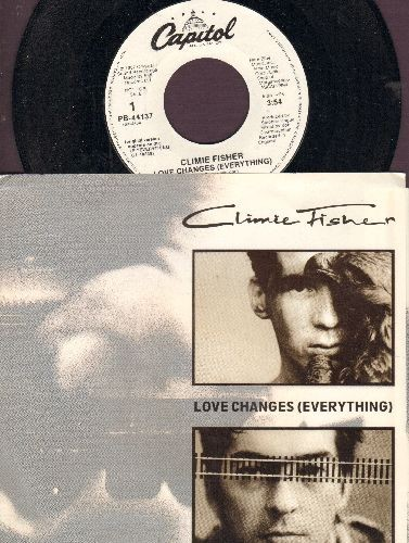 Fisher, Climie - Love Changes (Everything) (double-Asided DJ advance pressing with picture sleeve) - NM9/NM9 - 45 rpm Records