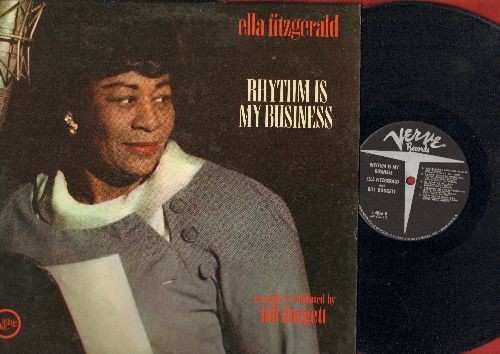 Fitzgerald, Ella - Rhythm Is My Business: Runnin' Wild, Hallelujah I Love Him So, I Can't Face The Music, After You've Gone (Vinyl MONO LP record) - VG7/EX8 - LP Records