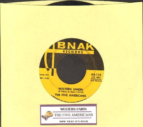 Five Americans - Western Union/Now That It's Over (with juke box label) - VG7/ - 45 rpm Records