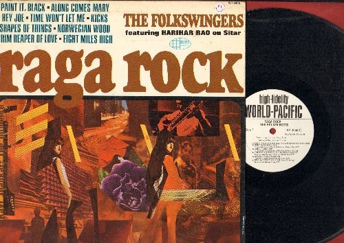 Folkswingers - Raga Rock: Paint It Black, Time Won't Let Me, Kicks, Norwegian Wood (vinyl MONO LP record, DJ advance pressing) - NM9/VG7 - LP Records
