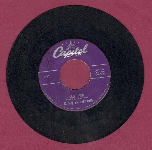Paul, Les & Mary Ford - Silent Night/Jingle Bells - VG7/ - 45 rpm Records