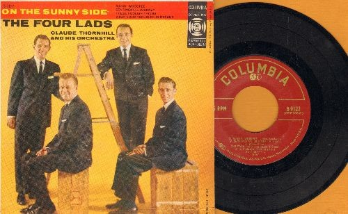 Four Lads - On The Sunny Side: Makin' Whoopee/Sentimental Journey/These Foolish Things/Wrap Your Troubles In Dreams (Vinyl EP record with picture cover) - EX8/VG7 - 45 rpm Records