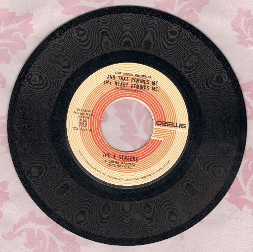 Four Seasons - And That Reminds Me (My Heart Reminds Me)/The Singles Game  - NM9/ - 45 rpm Records