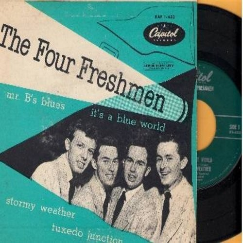 Four Freshmen - Stormy Weater/Tuxedo Juction/It's A Blue World/Mr. B's Blues (Vinyl EP record with picture cover) - EX8/VG7 - 45 rpm Records