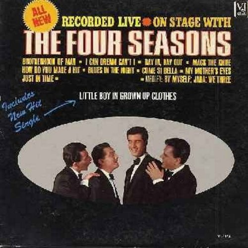 Four Seasons - Live On Stage: Little Boy In Grown Up Clothes, How Do You Make A Hit, Come Si Bella, My Mother's Eyes, Mack The Knife (Vinyl MONO LP record) - NM9/VG7 - LP Records